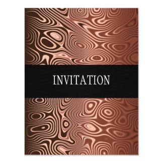 Copper Abstract All Events 11 Cm X 14 Cm Invitation Card