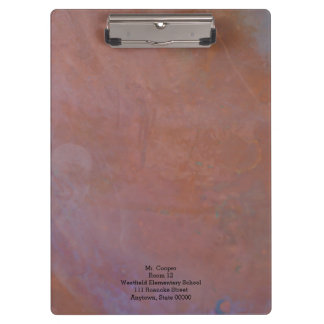 Copper abstract clipboard