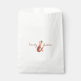Copper ampersand design favour bag