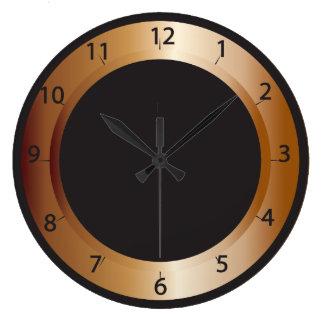 Copper and Black Design Clocks