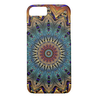 Copper and Black Mandala Cell Phone Case