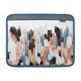 Copper and Blue Brushstrokes Abstract Design MacBook Air Sleeves