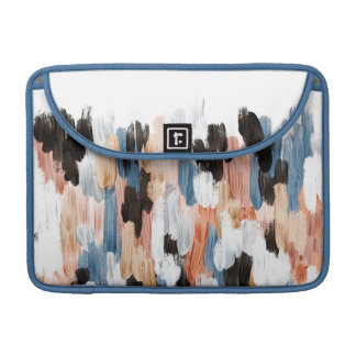 Copper and Blue Brushstrokes Abstract Design Sleeve For MacBook Pro