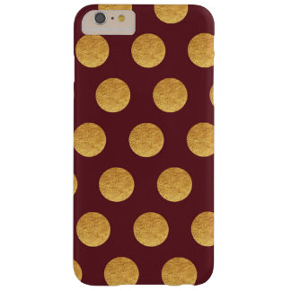 Copper and Burgundy Polka Dots Barely There iPhone 6 Plus Case