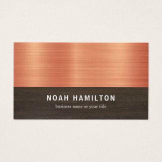 Copper and Dark Wood Effect | Business Card