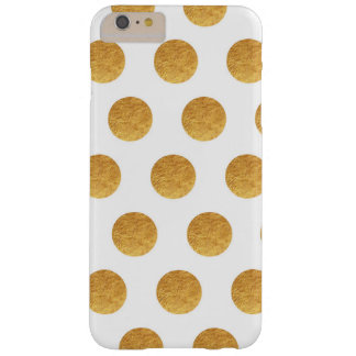 Copper and Ivory Polka Dots Barely There iPhone 6 Plus Case
