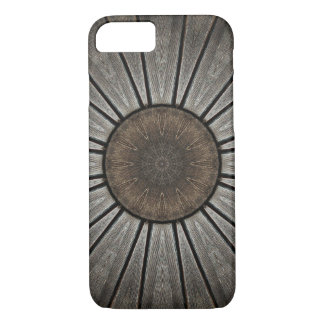 Copper and Pewter Wood-Look Mandala Kaleidoscope iPhone 8/7 Case