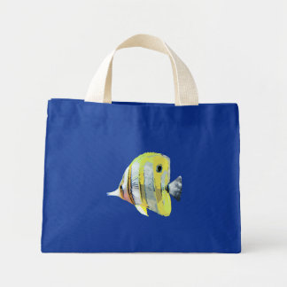Copper-banded Butterfly Fish Canvas Bags