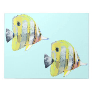 Copper-banded Butterfly Fish Scratch Pad