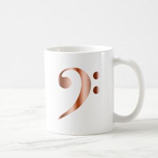 Copper Bass Clef Coffee Mug