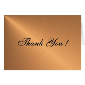 Copper Blank Thank You Cards