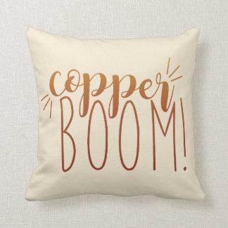 Copper Boom! Throw Pillow