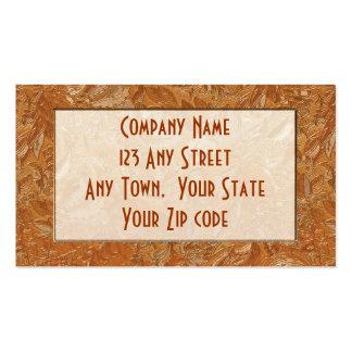 copper brocade business card template