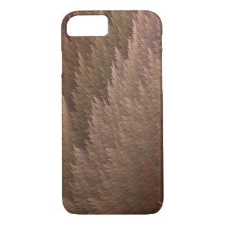 Copper Bronze Tan Tartan Feather Pattern Case