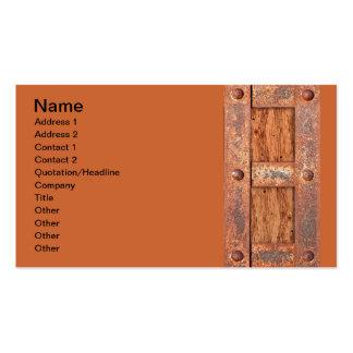 COPPER BRONZE TREASURE CHEST DOOR METAL RUST BOLTS BUSINESS CARD TEMPLATES
