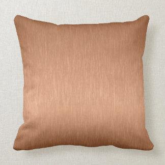 Copper-Brow Metallic Brushed Aluminum Look Cushion