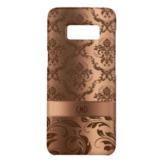 Copper Brown Damasks & Swirls Metallic Look Case-Mate Samsung Galaxy S8 Case