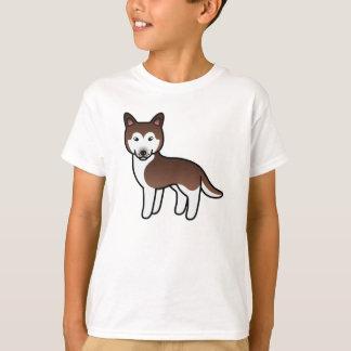 Copper Cartoon Siberian Husky Tee Shirts