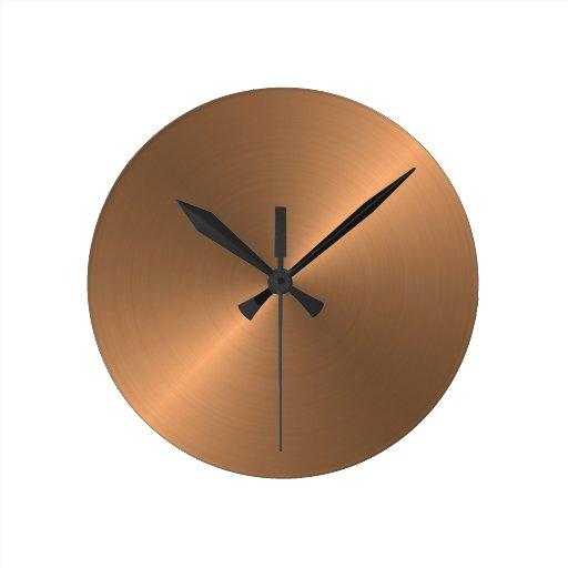 Copper Round Wallclock