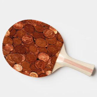 Copper Coins Ping Pong Paddle