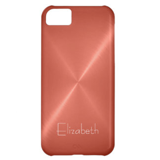 Copper color Stainless Steel Metal Look iPhone 5C Case
