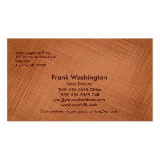 Copper Colored Business Card