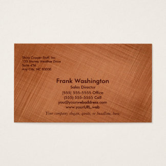Copper Colored Business Card