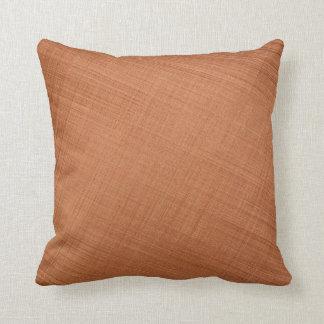 Copper Colored Throw Pillow