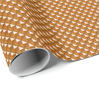 copper colored, metallic look, studded grid wrapping paper