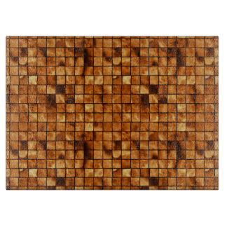 Copper Colored Mosaic Tile Pattern Cutting Board