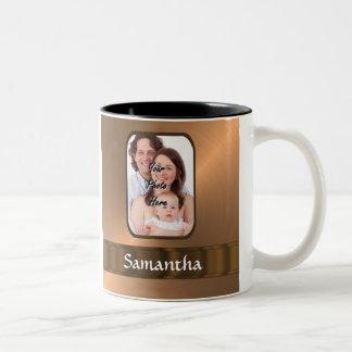Copper colored photo template Two-Tone mug