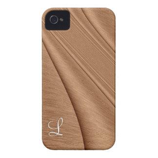 Copper Contour Initial iPhone 4 Case