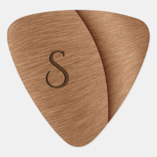 Copper Contour Initial Plectrum