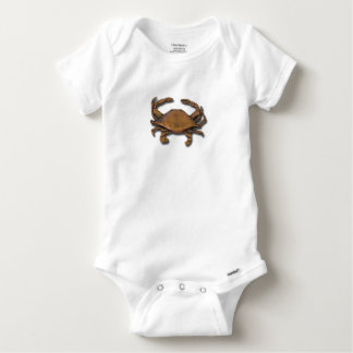 Copper Crab Baby Onesie