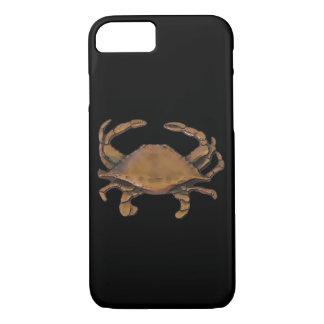 Copper crab on black iPhone 8/7 case