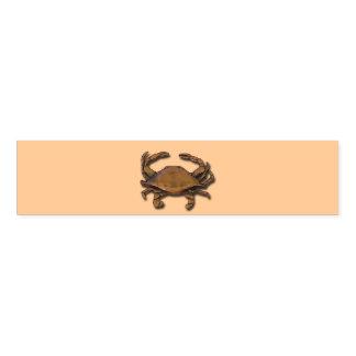 Copper Crab on Cream Napkin Band