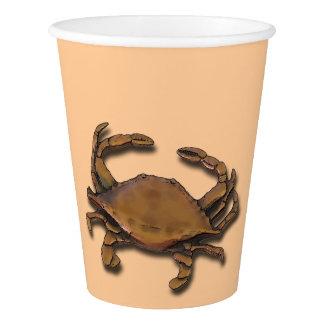 Copper Crab on Cream Paper Cup