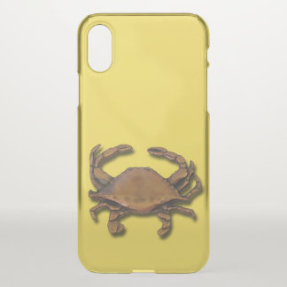 Copper Crab on Yellow iPhone X Case