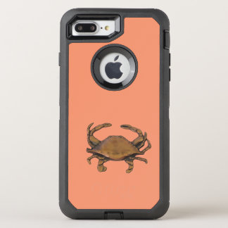 Copper crab OtterBox defender iPhone 8 plus/7 plus case