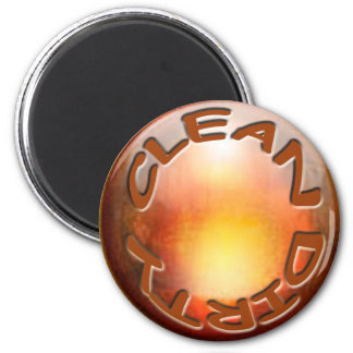 'Copper' Dishwasher Magnet' 6 Cm Round Magnet