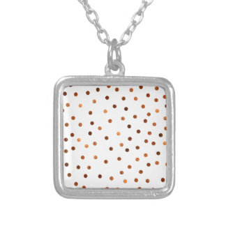 Copper Dots Pattern Silver Plated Necklace