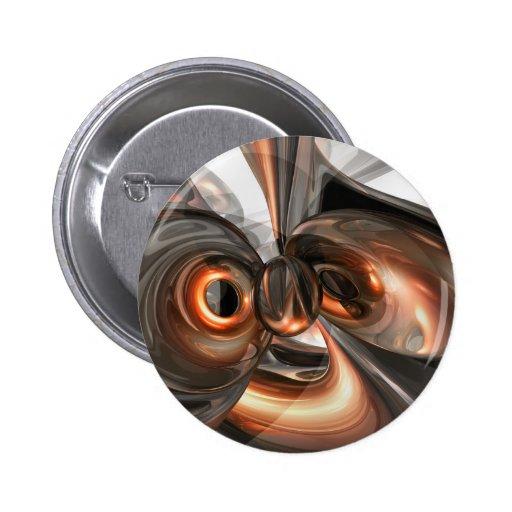 Copper Dreams Abstract Button