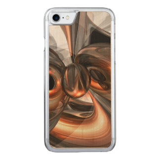 Copper Dreams Abstract Carved iPhone 7 Case