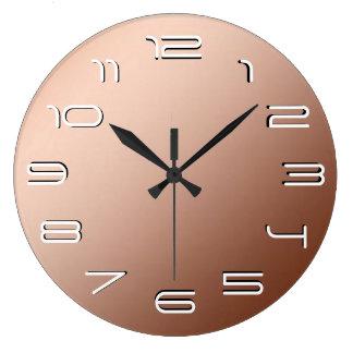 Copper elegance simplicity large clock