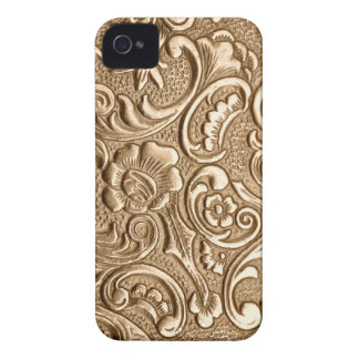 Copper embossed floral pattern. iPhone 4 case