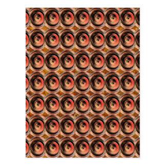 Copper Energy Beads : Embossed Foil Art Postcard