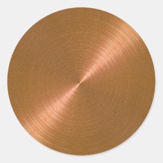 Copper Envelope Seal Round Sticker