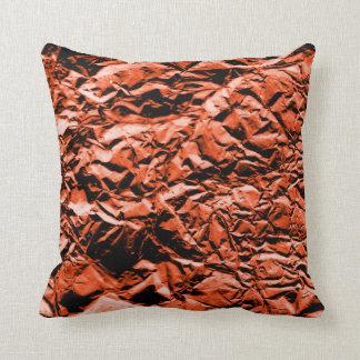 Copper Foil #2 Throw Pillow
