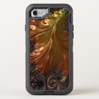 Copper Fractal OtterBox Defender iPhone 7 Case