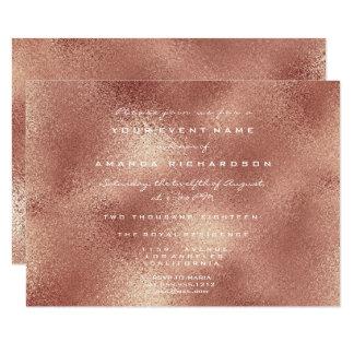 Copper Glass Effect Peach Rose Gold Minimal Elegan Card